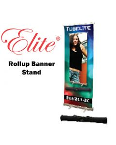Elite™ Banner Stand Roll Up Blue
