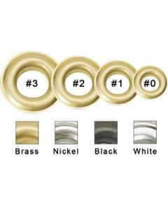 "#2 3/8"" Long Barrel Brass Grommets"